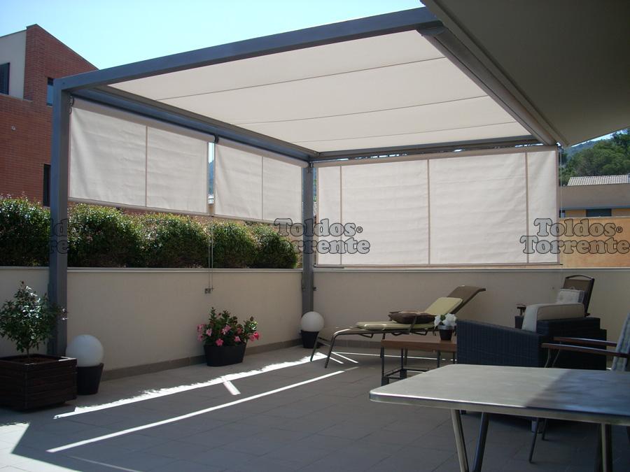 Toldos para p rgolas de veranda for Tipos de toldos para patios