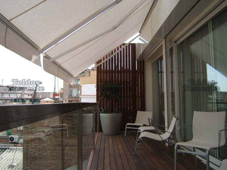 toldos para terraza semicofre brazos articulados