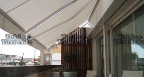 Precios de toldos de terraza great lona para prgola lonas for Brazos para toldos precios